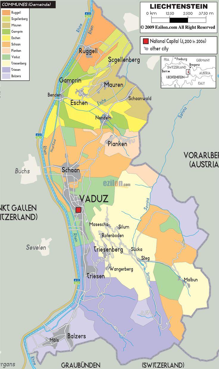Liechtenstein Political Map 217 best maps images
