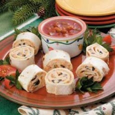 Fiesta Pinwheels Recipe - made this, super easy, fast and yummy.  Great for school lunches too.
