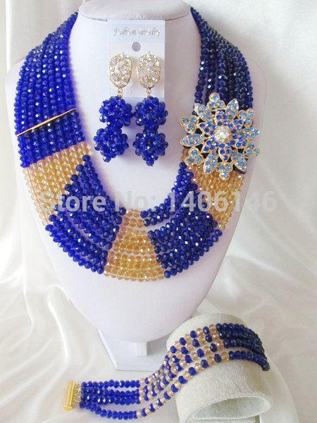 Хиты 2014 продажа бросился бесплатная доставка женщины ювелирные комплект лучшие продажи королевский нигерии свадьба африканские бусины комплект ювелирных изделий Ab1134