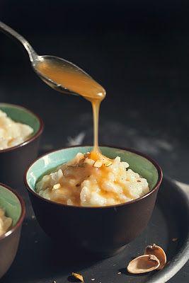 Riz au lait vanillé et sa sauce au caramel beurre salé {Retour en enfance}