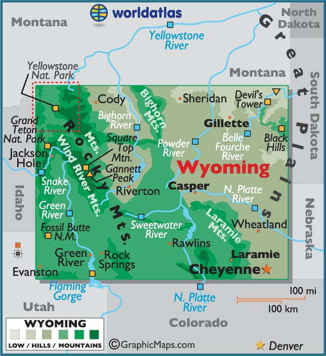 Wyoming Map We Went There On Our Trip To Yellowstone National