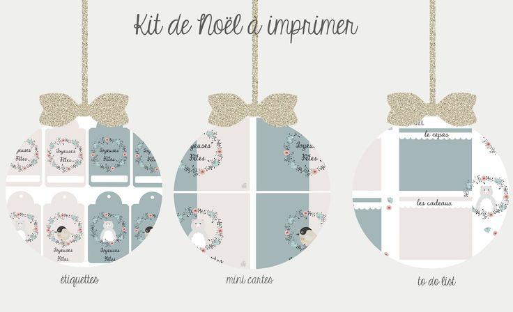 Kit de Noël à imprimer {version 2015}