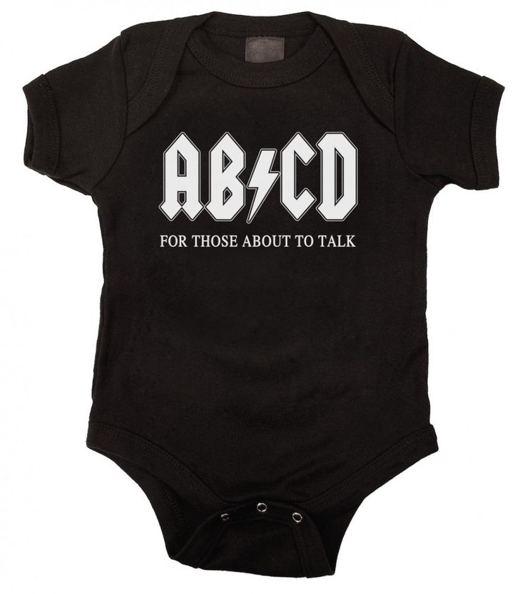 AB/CD Funny Black Baby Bodysuit