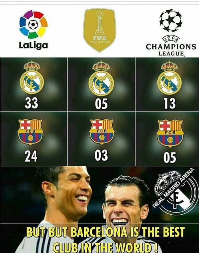 Real Madrid Is The Best Club In The World Los Mejores Memes De Fútbol España Argentina Real Funny Soccer Memes Real Madrid Football Real Madrid Wallpapers