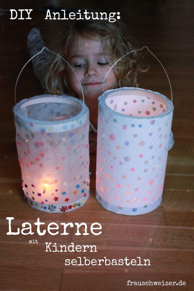 eine schöne Laterne mit Kindern selber basteln, schnelle und einfach DIY- Anleitung.