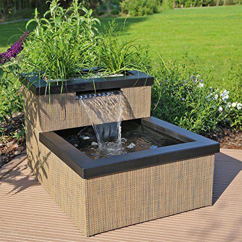 miniteich set terrassenteich balkonteich mit wasserfall z. Black Bedroom Furniture Sets. Home Design Ideas
