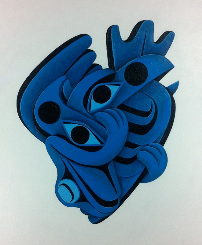 """Black & Blue Heart"" by Shawn Hunt:"