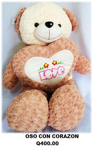 #Oso de #Peluche Grande con Corazon #Love!! www.globocentro.com.gt