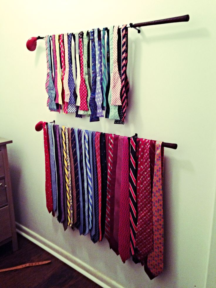 Jared turned my grandfathers old wooden golf clubs into his new tie rack! Turned out awesome.