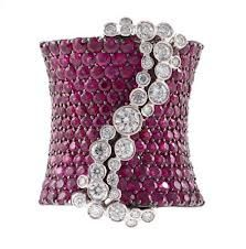 Stefan Hafner ruby and diamond cuff