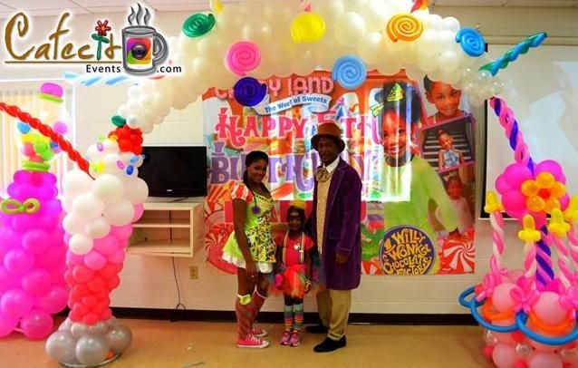 Balloon Decoration by Cafecito Events: Candy Land
