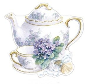 Carol Wilson Violets Teapot