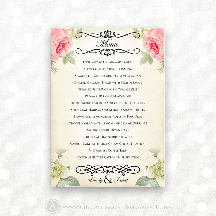 Best 25+ Diy menu cards ideas on Pinterest Diy wedding menu - menu template word free