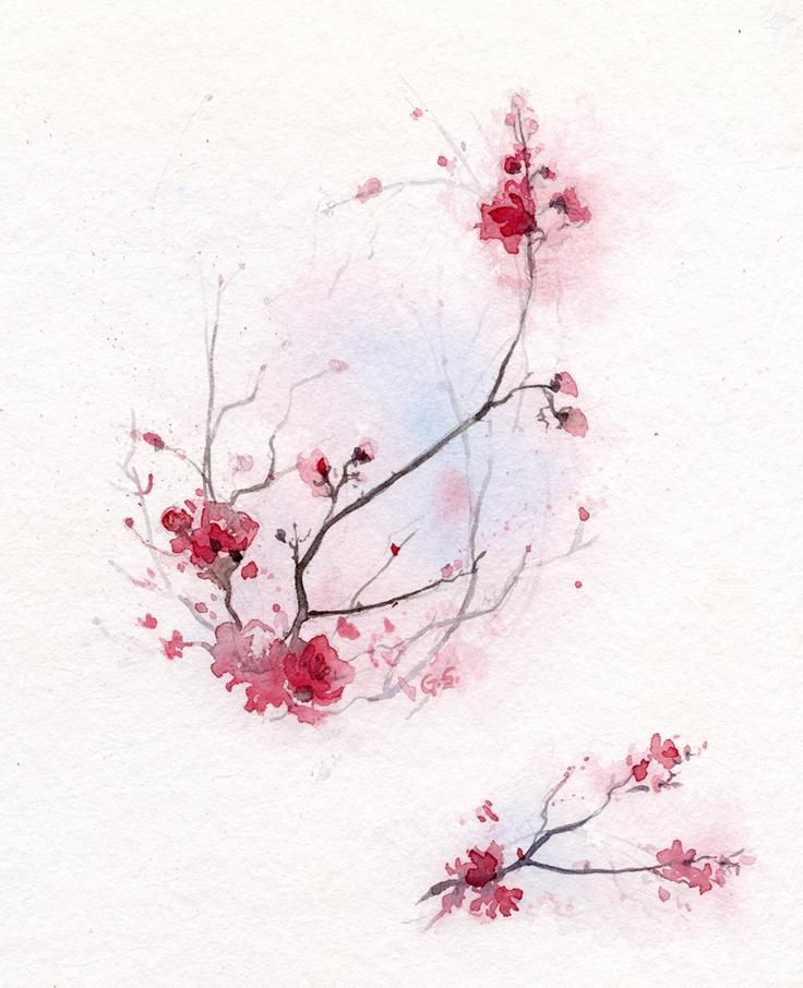Kwiat wiśni - wkrótce dostępne na naszych zaproszeniach oraz do kupienia jako reprodukcja Giclee Print