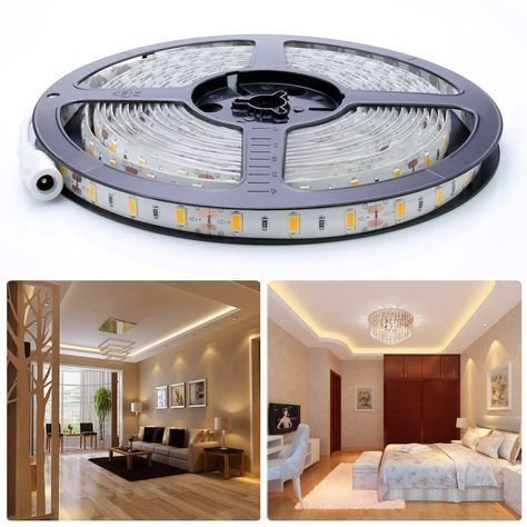Auralum 5m SMD 5630 300 LED da 12V 72W 12000LM IP65 polvere ermetico impermeabile dust proof bianco caldo lampadina LED Band striscia luci tubo flessibile: Amazon.it: Casa e cucina