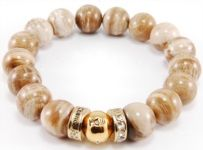 ARMBÅND - SPIRIT - DAMESMYKKER - lachance  Str. Xl med guld IP med klar krystal