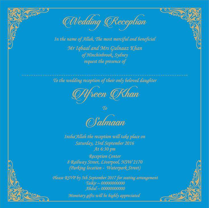 9 best wedding card images on pinterest indian bridal indian wedding invitation wording for reception ceremony stopboris Gallery