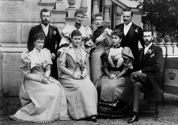 The Hesse sisters, including Alexandra and her husband Nicholas of Russia as well as her brother, Ernest with his first wife, Victoria Melita of Saxe-Coburg.