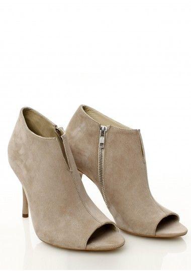 SEPALA - Botine piele intoarsa bej  #botine #boots #moja #sepala #leatherboots