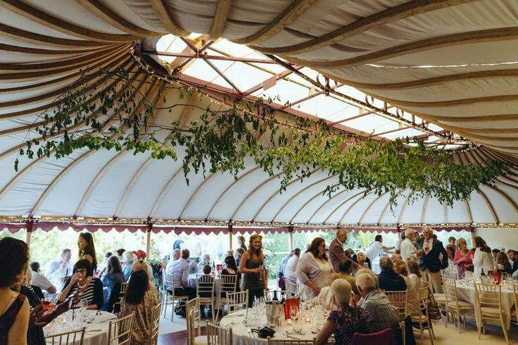 Within one of our beautiful Mini Orangery tents.