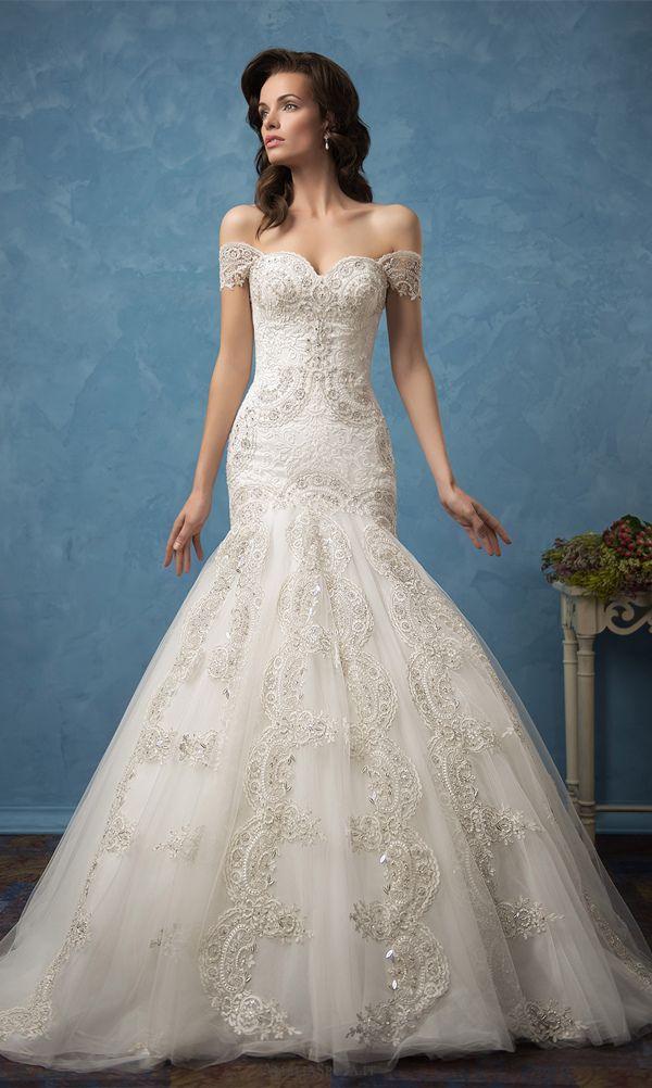off the shoulder mermaid wedding dress from Amelia Sposa 2017