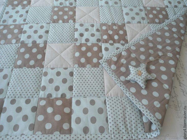 Купить Лоскутное одеяло Шоколадные горохи - малышу, мальчику, сыну, внуку, подарок новорожденному, на выписку