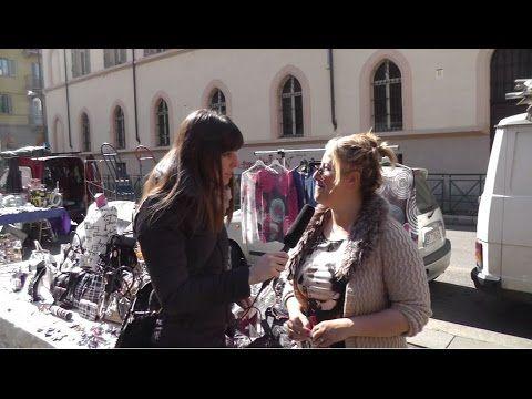Daniela spuntista del mercato di Piazza Santa Giulia augura a tutti i nostri ascoltatori una Buona Pasqua! Intervistata da Federica Scanderebech PD Torino afferma che il commercio in questo mercato va bene la gente compra e gli universitari hanno portato un gran movimento. #IoTiAscolto