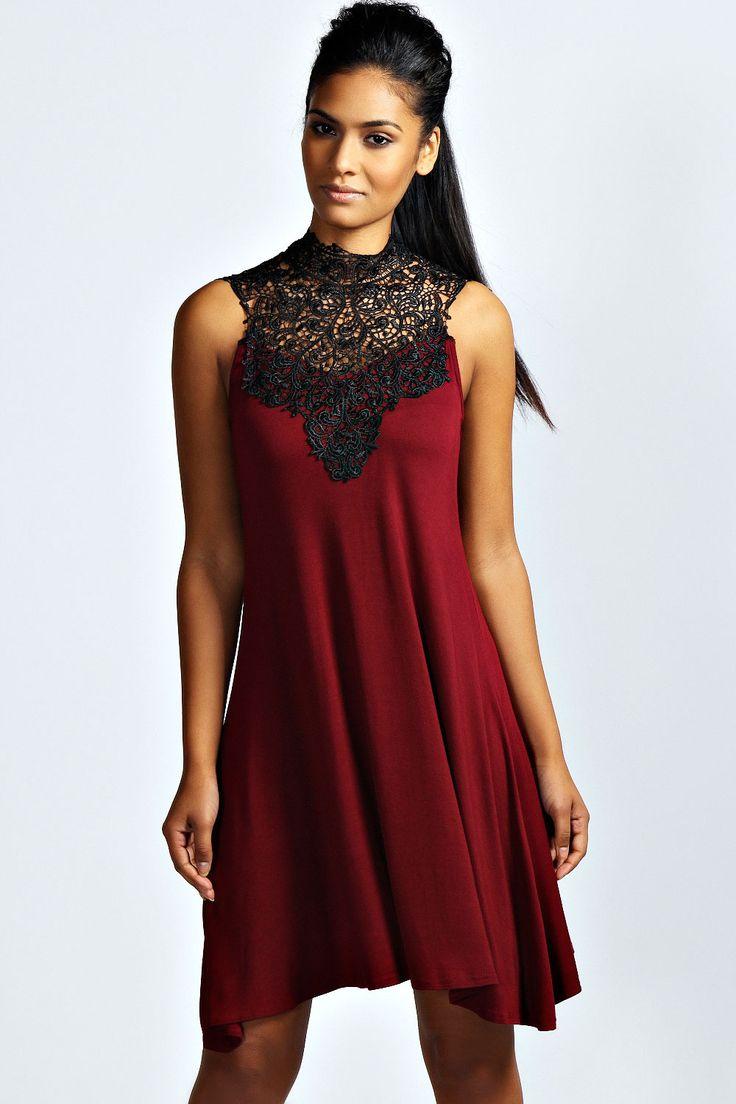 River Crochet Top Swing Dress