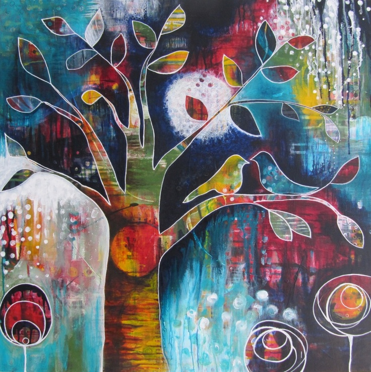 Love and its Many Colours - newest painting from Bloom True by Nathalie Vachon