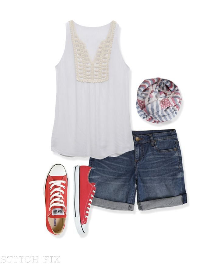 The perfect look for your outdoor 4th of July festivities!