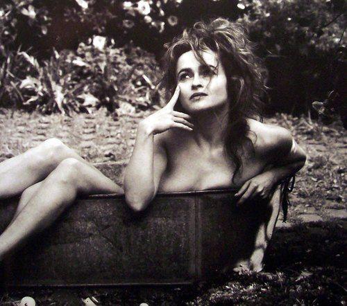Helena Bonham Carter - bath (breast cancer campaign)