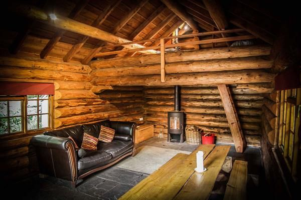 Shank Wood Log Cabin - Secluded cabin for up to 4 with private wood fired hot tub near the Lake District offers a rustic and relaxing break in the woods