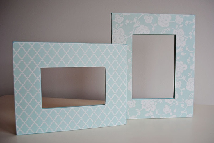 Mommy by day Crafter by night: Scrapbook Paper Picture Frames
