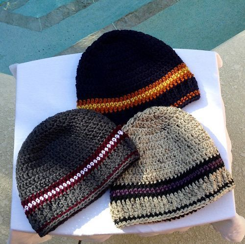 Beanie designed for an adult male.