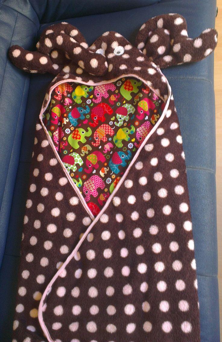 Handtuch mit Kapuze für ein Kind
