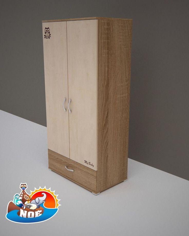 Todi Noé 2 ajtós 1 fiókos nagy szekrény