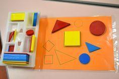 Photo des ateliers de géométrie en maternelle: les formes de base
