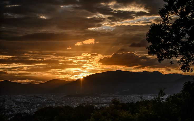 Kyoto sunset from Shogunzuka Viewpoint