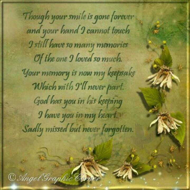 Sadly missed but not forgotten | From Heaven above | Pinterest