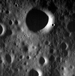 This image, acquired yesterday, is one of NASA's MESSENGER's last. Today, April 30, 2015, the spacecraft will complete its highly successful orbital mission and impact the surface of Mercury.