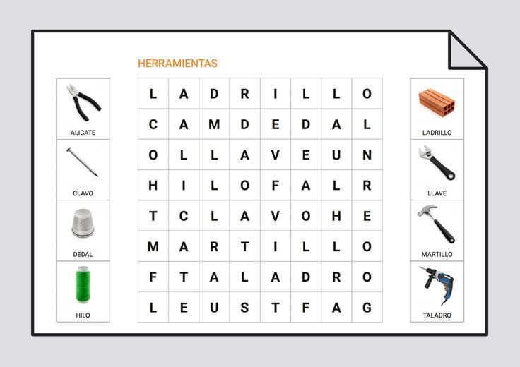Sopa De Letras Herramientas Sopa De Letras Sopa De Letras Para Ninos Clases De Tecnologia