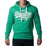 """Ανδρική Μπλούζα Hoodie """"Super Dry """" Real - Πράσινο #www.pinterest.com/brands4all"""