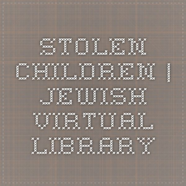 "Stolen Children | Interview with Gitta Sereny. As part of Hitler's plan to create ""the master race,"" 250,000 Jewish children were kidnapped during the war and subjected to Nazi propaganda in an attempt to ""cleanse"" them of their Jewish heritage. Gitta Sereny, an Austrian-born journalist an author who encountered the kidnapped children in war-torn Europe after the war, described her experience in an interview with Talk Magazine in 2009."