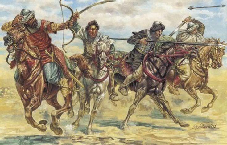 Charge de Cavalerie Turcs Seldjoukides et Arabes lors des croisades