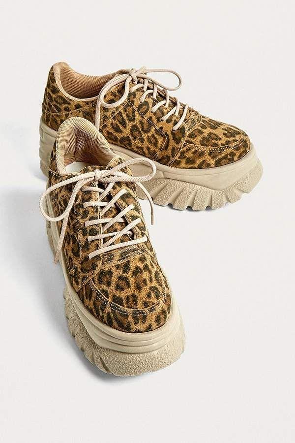 UO Tyson Leopard Print Chunky Sneaker