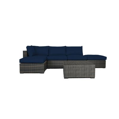 Found it at Wayfair - South Hampton 6 Piece Wicker Sectional Seating Group with Cushions