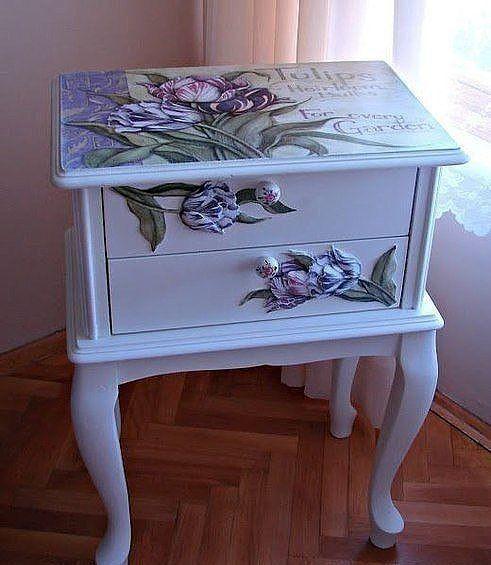 17 mejores ideas sobre muebles de decoupage en pinterest - Muebles pintados en plata ...
