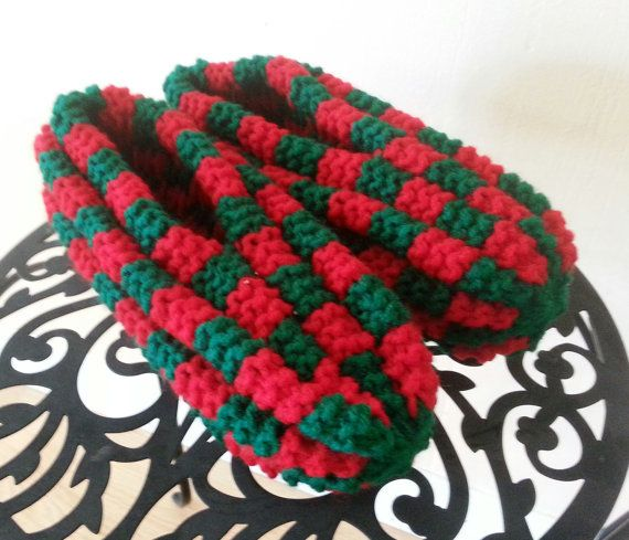 Knitting Items For Sale : Hand knitted checkerboard slippers by countrycrafts you on