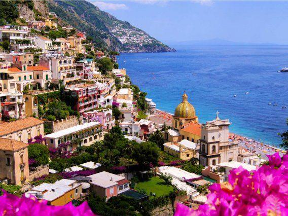 Drive along the gorgeous cliffs of the Amalfi Coast.