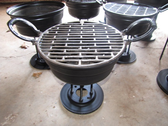 Recycled Metal Barbeque Gift for Him Outdoor by TinkanDesigns